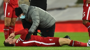 Henderson suffered the injury in the Merseyside derby defeat