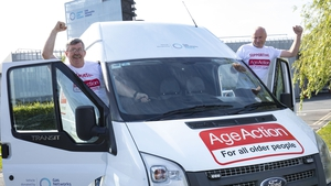 John Dunlea and David Crancher from Age Action Ireland with the van Gas Networks Ireland donated