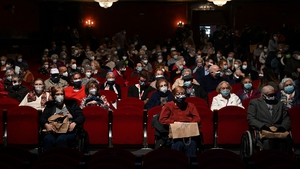 The group of 150 pensioners from seven Madrid care homes were invited to see ashow at theEDP theatre on Gran Via