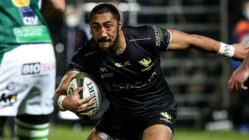 Bundee Aki rescued a dramatic victory for Connacht against Benetton