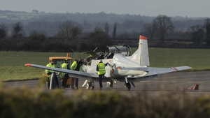 The plane was about 30kmfrom Baldonnel whe the issue arose,but was able to return and land safely (Images: Damien Eagers)