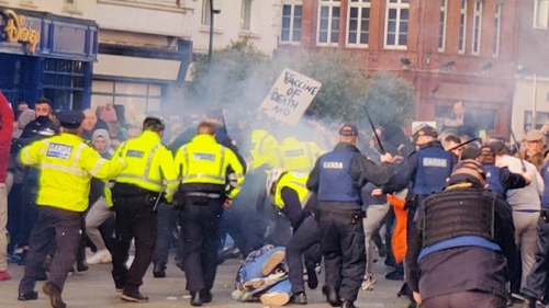 Garda McCarthysaid it was'clear from the get go'that protesters on Grafton Street were intent on inflicting harm and injury ongardaí