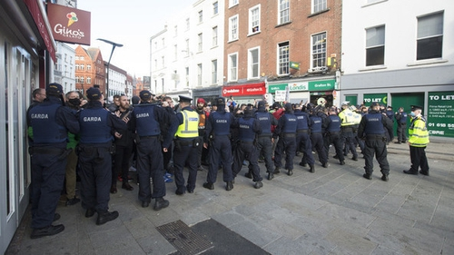 Scenes from Dublin city centre yesterday