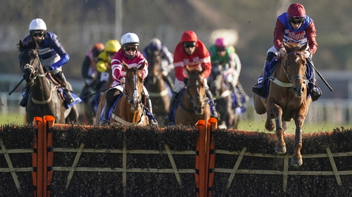 Tritonic jumps the last in the Adonis well clear of his rivals