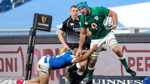 Tadhg Beirne was named man of the match in Rome