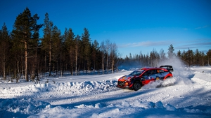 Craig Breen has slipped to fourth in the Arctic Rally Finland