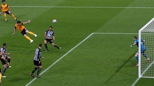 Ruben Neves heads Wolves' equaliser
