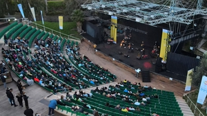 Vaccinated seniors in Israel attend a concert