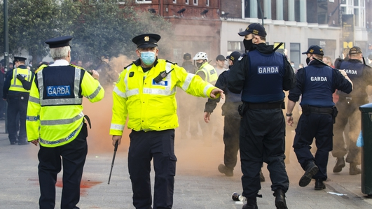 Garda response to violence directed towards them