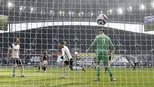 Gareth Bale celebrates Tottenham's first goal against Burnley
