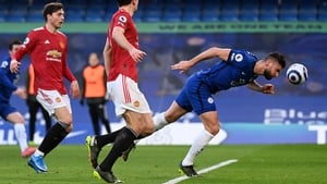 Olivier Giroud was this close from giving Chelsea the lead