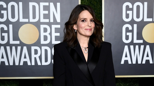 Tina Fey attends the 78th Annual Golden Globe® Awards at The Rainbow Room on February 28, 2021.