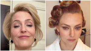The Crown's Gillian Anderson and Amanda Seyfried / Images: Instagram @gilliana and @mingey