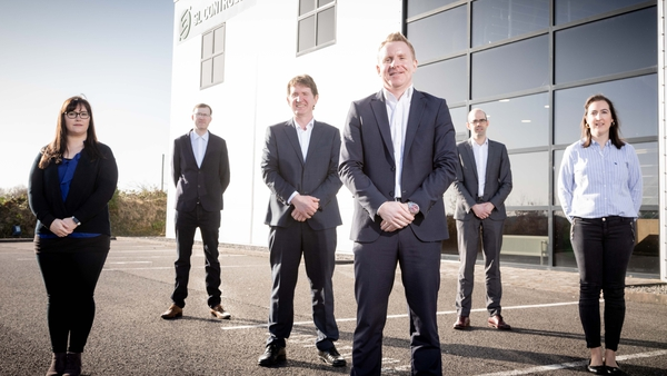 Some of the SL Controls team (l-r) Deirdre Loughlin, Paul Clarke, Shane Loughlin, Keith Moran (CEO), Darragh McMorrow and Norma Mulligan