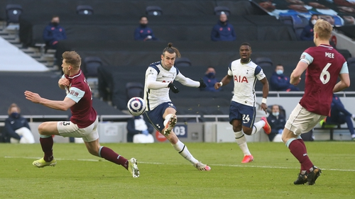 Bale scored twice in the 4-0 victory over Burnley