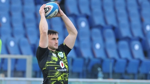Ronan Kelleher during warm up in Rome