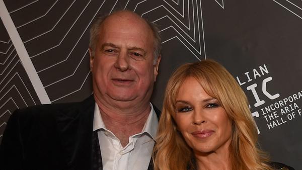 Kylie Minougue with Michael Gudinski