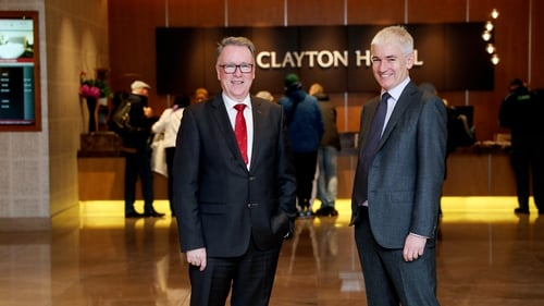Datala Hotel Group's outgoing CEO Pat McCann and incoming CEO Dermot Crowley