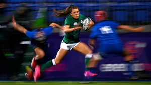 Béibhinn Parsons is action for Ireland against Italy last October