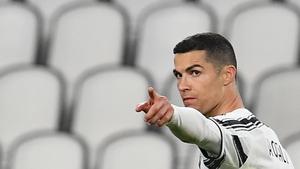 Ronaldo celebrates after scoring the third goal