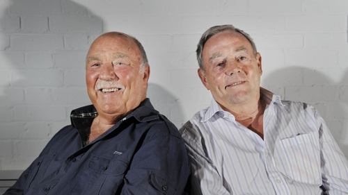 St John (R) with his broadcasting partner Jimmy Greaves