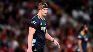Jack Regan looks on during the round one Super Rugby Aotearoa match against Crusaders