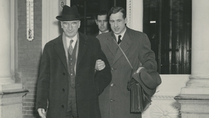 Former President Eamon de Valera with his son, gynaecologist Eamonn de Valera Jr (Photo: Courtesy UCD & OFM)