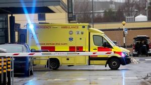 Ambulance seen outside Tallaght University Hospital (pic: RollingNews.ie)