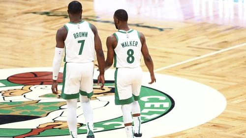 Kemba Walker and Jaylen Brown scored 43 of Boston Celtics' 117 points