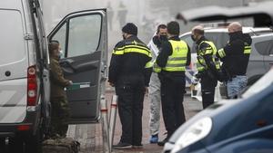 Police examine the scene in Bovenkarspel