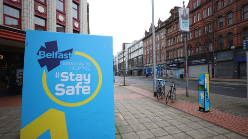 Arlene Foster welcomed the fall in the number of people testing positive for Covid-19