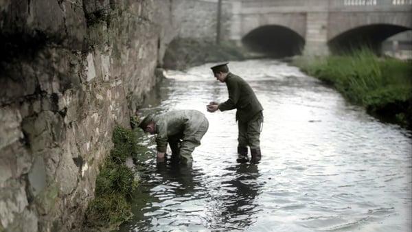 A British soldier in the Dodder