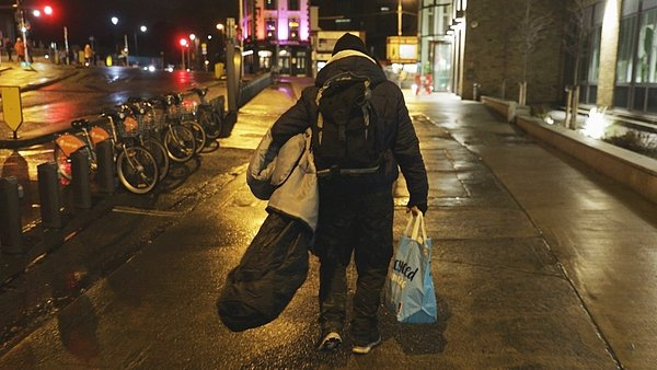 Some homeless people from outside Dublin had been denied hostel beds in the capital
