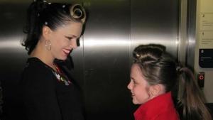 Imelda May with Hannah Roddy at a meet and greet eight years ago / Image: PA
