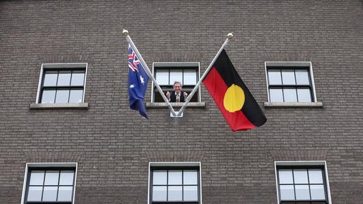 Aboriginal flag flies at Australian embassy in Dublin