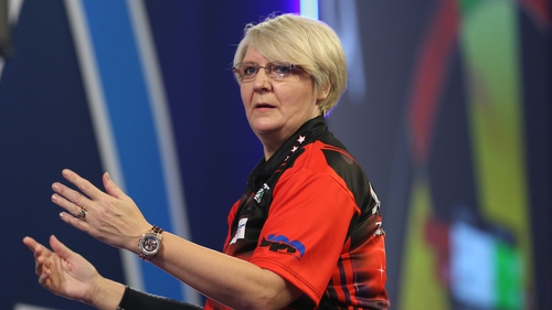 Lisa Ashton became the first woman to average over 100 in a televised event
