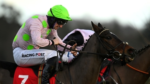 Patrick Mullins aboard Sharjah at the Leopardstown Christmas Festival