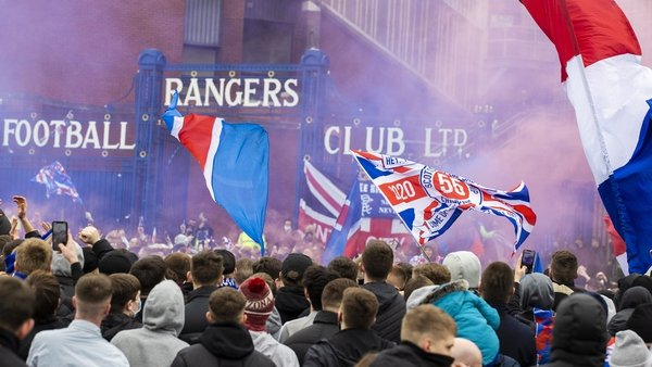 Crowds gathered outside Ibrox ahead of Rangers' game with St Mirren