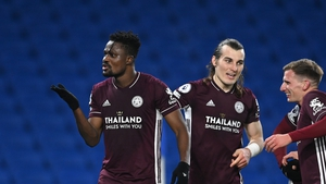 Leicester City's Daniel Amartey stooped to head in the winner