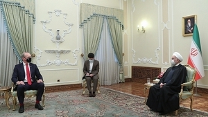 Simon Coveney said the 'meeting went well' (Pic courtesy: President.ir)