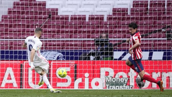 Karim Benzema equalised late on