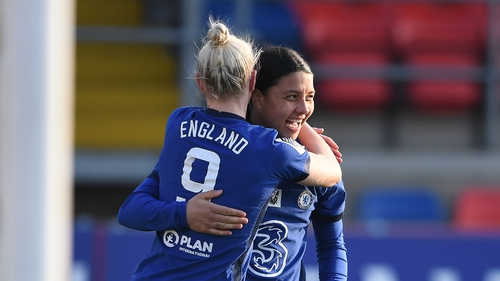 Beth England and Sam Kerr shone for leaders Chelsea