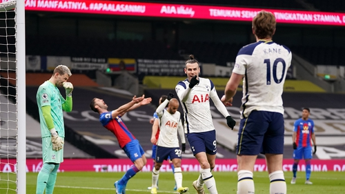 Bale and Kane celebrate one of their fruitful combinations at Tottenham Hotspur Stadium