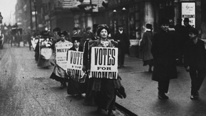Suffragettes make their case for women to get the vote in London in 1910
