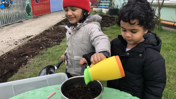 Children returned to St Patrick's preschool in Galway city