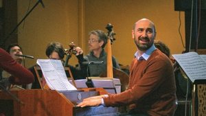 Peter Whelan with members of theIrish Baroque Orchestra