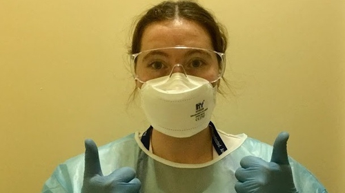 Cork University Hospital nurse Fiona Hannon has had to embrace a whole new way of communicating with patients