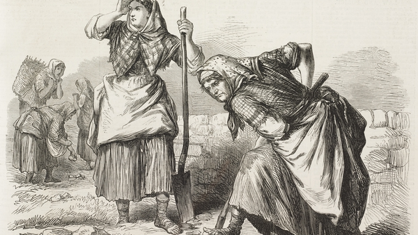 Women at work in a field in Co Roscommon in 1870. Illustration: The Illustrated London News/ Getty Images
