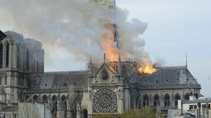 Notre Dame ablaze two years ago.