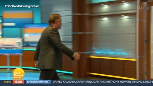 Piers Morgan storms off the set of Good Morning Britain / Image courtesy of ITV